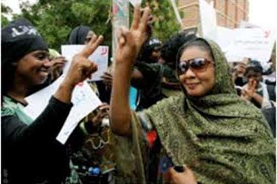 المتظاهرات السودانيات