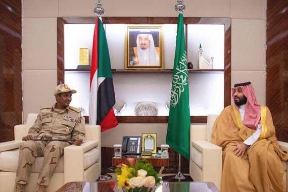 محمد بن سلمان ونائب رئيس المجلس العسكري السوداني محمد حمدان دقلو