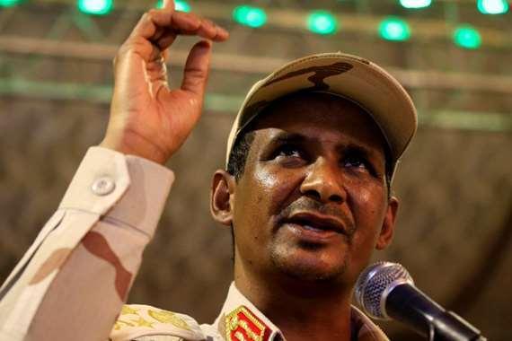 نائب رئيس المجلس العسكري السوداني الفريق أول محمد حمدان دقلو