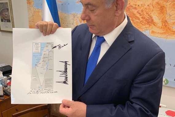 إسرائيل تتسلم خريطة ضم الجولان المحتل