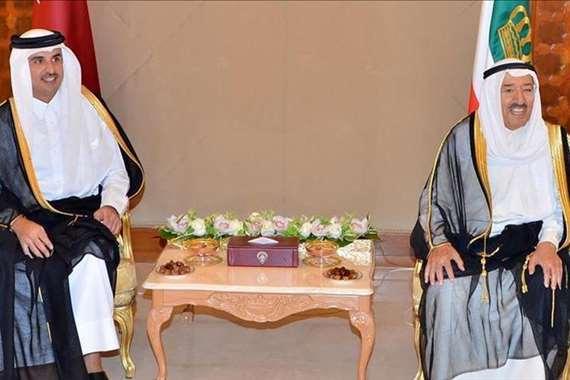 أمير قطر و أمير الكويت