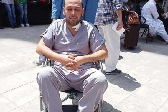 الدكتور محمود سامي، الطبيب بمستشفى عزل بلطيم