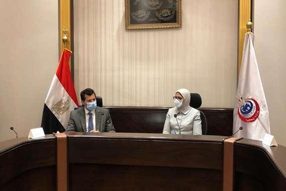 """وزيرا """"الصحة"""" و """"الرياضة"""" يبحثان تعزيز التعاون للتصدي لفيروس كورونا المستجد"""