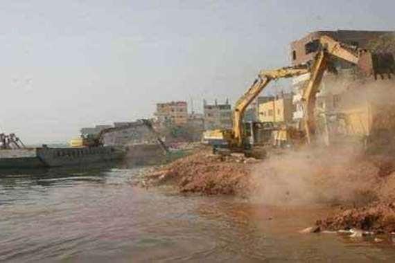 إزالة تعديات على النيل