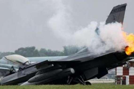 تحطم مقاتلة أمريكية من طراز «إف-16»