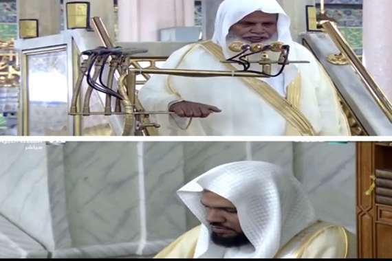 علي الحذيفي ونجله أحمد
