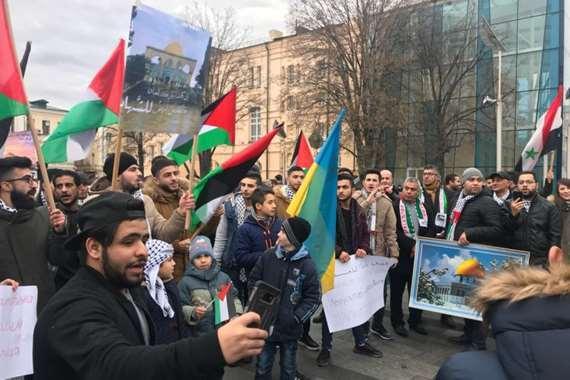 مظاهرة ببرلين تنديدا بزيارة «نتنياهو» (أرشيفية)