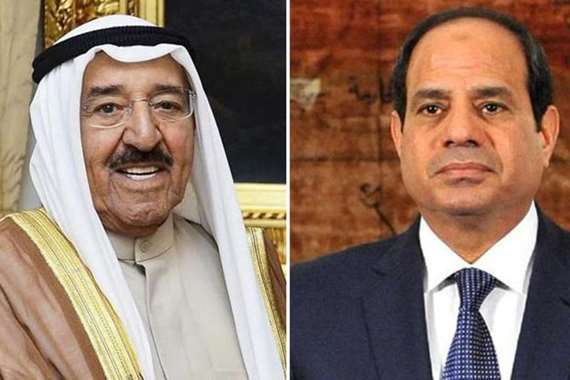 السيسي وأمير الكويت