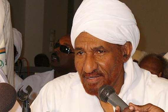 رئيس حزب الأمة القومي في السودان الصادق المهدي