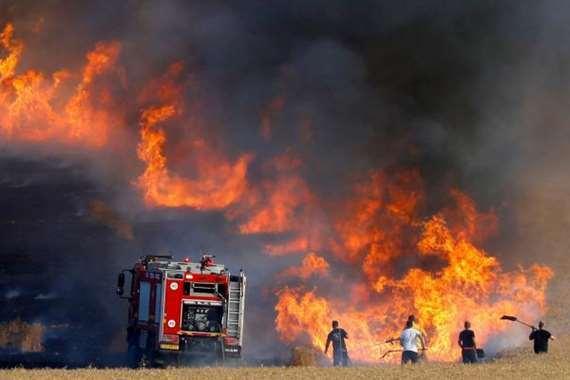 حرائق المستوطنات الإسرائيلية المحاذية لقطاع غزة الفلسطيني