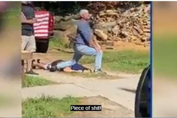 فيديو صادم لضابط أمريكي يسخر من وفاة «جورج فلويد»