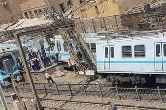 خروج مترو المرج عن مساره