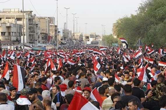 تظاهرات ضخمة تجتاح العراق