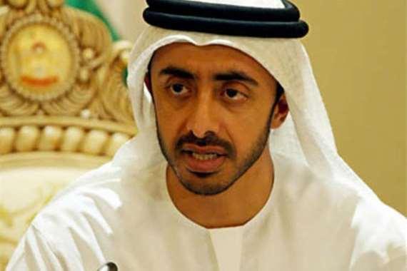 وزير الخارجية الإماراتي «عبدالله بن زايد»