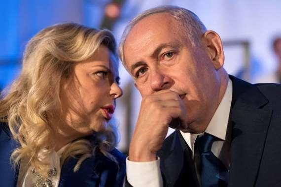 سارة نتنياهو وزوجها