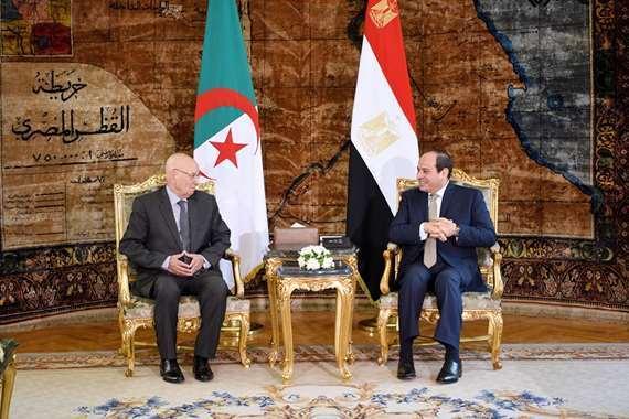 السيسي يستقبل رئيس الجزائر