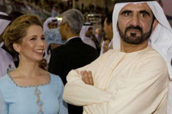 محمد بن راشد وزوجته الأميرة هيا
