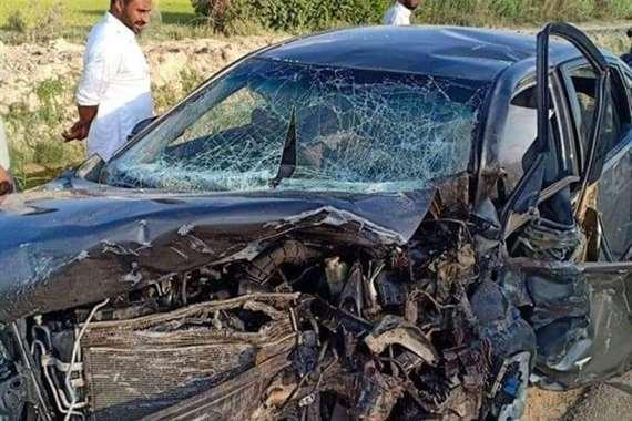 مصرع وإصابة 6 أشخاص في حادث تصادم بزفة عروسين بالبحيرة