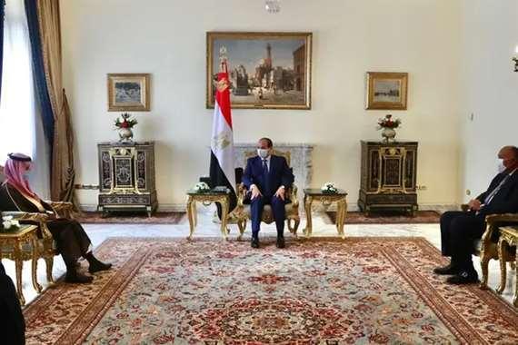 الرئيس السيسي يلتقي وزر الخارجية السعودي