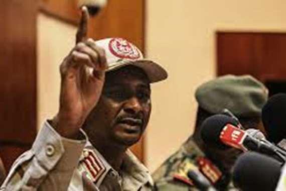 نائب رئيس المجلس السيادي السوداني  محمد حمدان دقلو