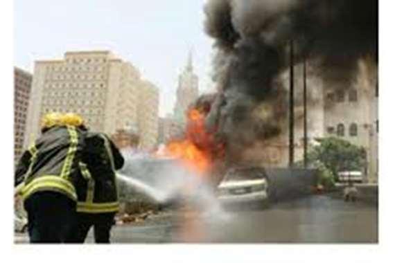 حريق هائل بأحد الفنادق الكبرى بالرياض