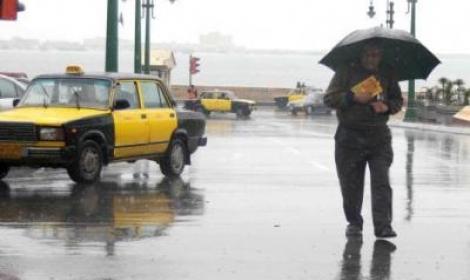 هطول إمطار غزيرة علي مناطق شرق الإسكندرية