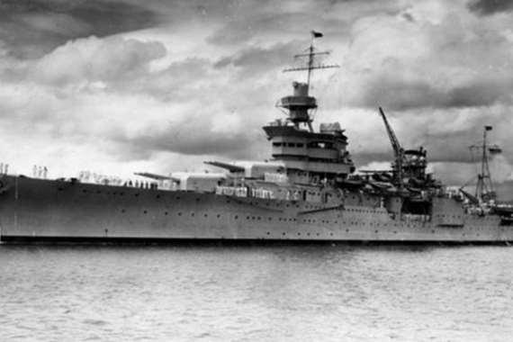"""السفينة الحربية""""انديانا"""" التى تم العثور عليها"""