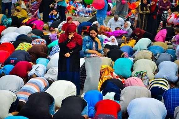 الاختلاط في صلاة العيد