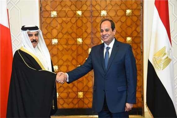 السيسي وملك البحرين