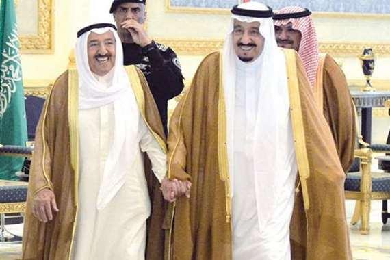 الملك سلمان بن عبد العزيز وأمير الكويت الشيخ صباح الأحمد