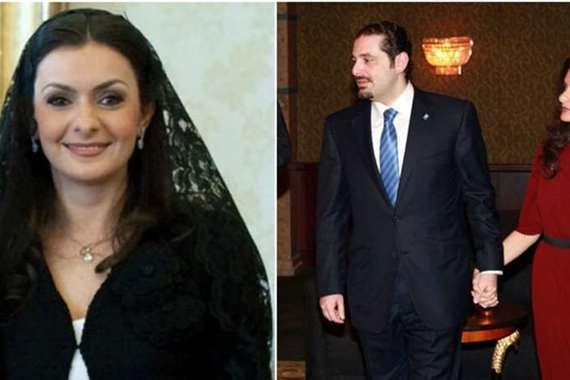 الحريري وزوجته