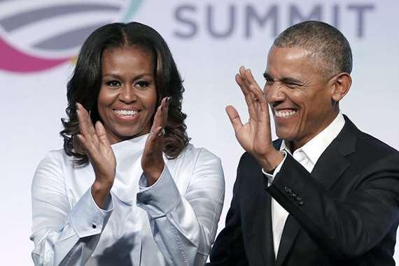أوباما وزوجته