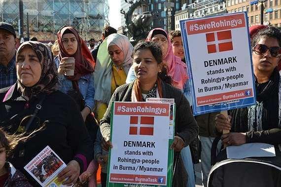الآلاف من لاجئي الروهنغيا يتظاهرون في بنغلاديش