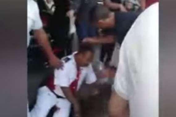 أمين الشرطة بعد طعنه