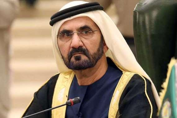 الشيخ محمد بن راشد آل مكتوم نائب رئيس الدولة رئيس مجلس الوزراء