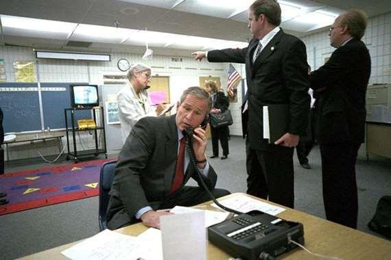 صور نادرة لمسؤولي البيت الأبيض عقب 11 سبتمبر