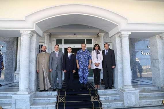 وزيرة الهجرة ووزير شئون المغتربين الأرمينى يزوران القوات البحرية بالإسكندرية