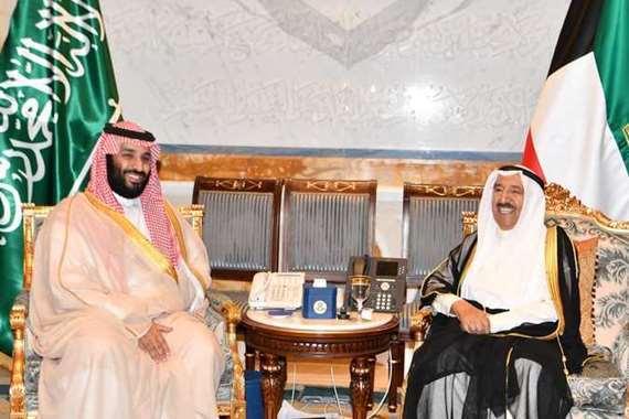 الشيخ صباح الأحمد ومحمد بن سلمان
