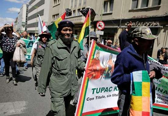 احتجاجات في بوليفيا اعتراضا علي قتل الشرطة لمزارع كوكايين