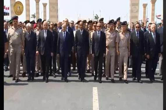 السيسي يتقدم الجنازة العسكرية لرئيس أركان القوات المسلحة