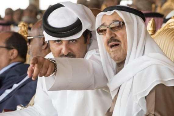 أمير الكويت وأمير قطر
