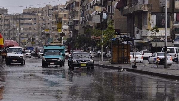 بالصور.. أمطار وبرد قارس يضرب بورسعيد