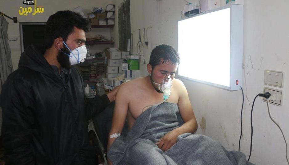 قصف إدلب بالغاز السام