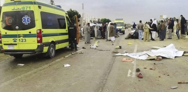 مصرع شخص وإصابة اثنين في حادث بالوادي الجديد
