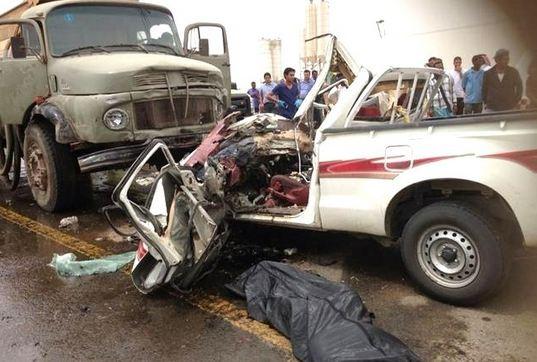 مصرع واصابة 10  في حادث انقلاب سيارة بالمنيا