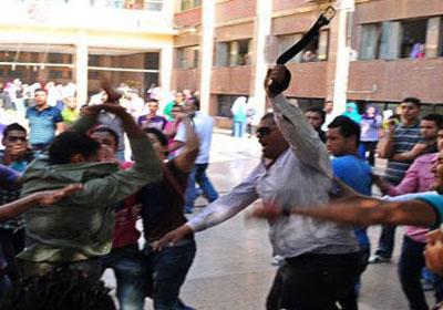 الشرطة تتدخل لفض مشاجرة بين طلاب مدرسة الفشن ببني سويف
