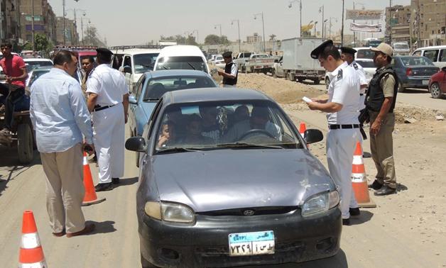 حملات مرورية على الطرق السريعة بالقاهرة