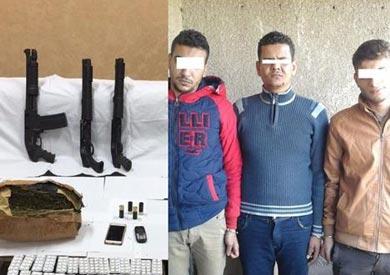ضبط 5 عاطلين بحوزتهم أسلحة نارية ومواد مخدرة بالمنوفية