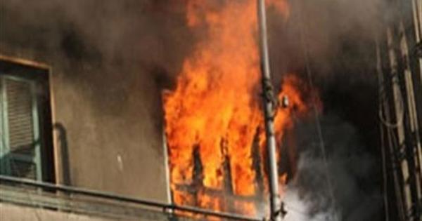 تفحم ربة منزل في حريق شقة بحلوان